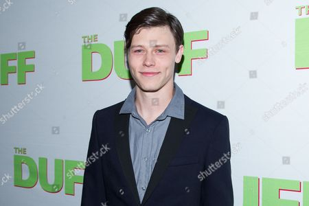 """Nick Eversman arrives at the Los Angeles Fan Screening of """"THE DUFF"""", in Los Angeles"""