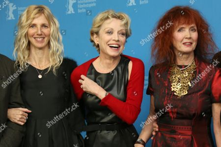 From left, actresses Sandrine Kiberlain, Caroline Sihol and Sabine Azema attend the photo call for the film Life of Riley during the Berlinale International Film Festival, in Berlin