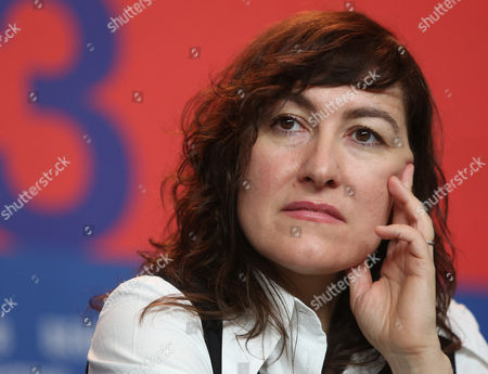 Athina Rachel Tsangari during the jury press conference at the 63rd edition of the Berlinale, International Film Festival in Berlin