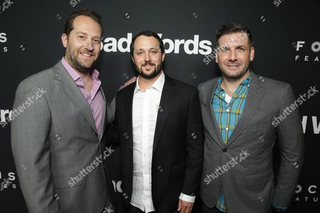 Producers Mason Novick, Sean McKittrick and Jeff Culotta seen at Focus Features 'Bad Words' Los Angeles Premiere, on Wednesday, March, 5, 2014 in Los Angeles