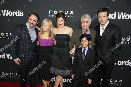Ben Falcone, Rachael Harris, Kathryn Hahn, Philip Baker Hall, Rohan Chand and Jason Bateman seen at Focus Features 'Bad Words' Los Angeles Premiere, on Wednesday, March, 5, 2014 in Los Angeles