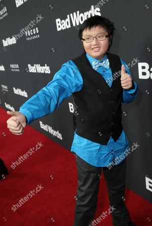 Stock Picture of Matthew Zhang seen at Focus Features 'Bad Words' Los Angeles Premiere, on Wednesday, March, 5, 2014 in Los Angeles