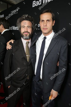 Stock Picture of Ethan Sandler and Focus Features President of Production Jeb Brody seen at Focus Features 'Bad Words' Los Angeles Premiere, on Wednesday, March, 5, 2014 in Los Angeles