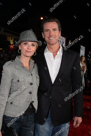 OCTOBER 28: Jennifer Newsom and San Francisco Mayor Gavin Newsom at Focus Features World Premiere of 'MILK' on at the Castro Theatre in San Francisco, CA