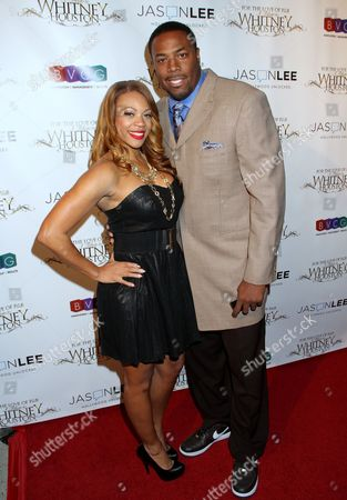 Stock Image of DJ Eque, left, and Cedric Ceballos attend For the Love of R&B - A Tribute to Whitney Houston at Tru Hollywood, in Los Angeles