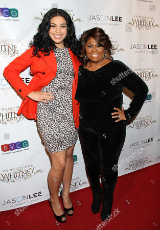 Kim Burrell, right, and Jordin Sparks attend For the Love of R&B - A Tribute to Whitney Houston at Tru Hollywood, in Los Angeles