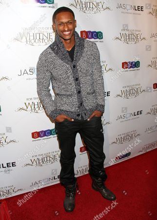 J Rome attends For the Love of R&B - A Tribute to Whitney Houston at Tru Hollywood, in Los Angeles