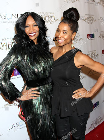 Marlo Hampton, left, and Kita Williams attend For the Love of R&B - A Tribute to Whitney Houston at Tru Hollywood, in Los Angeles