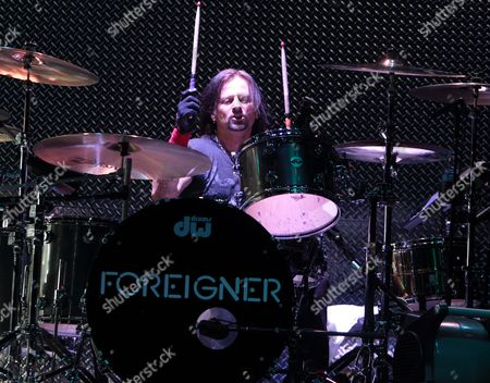 Chris Frazier of the classic rock band Foreigner performs in concert at the American Music Theater, in Lancaster, Pa