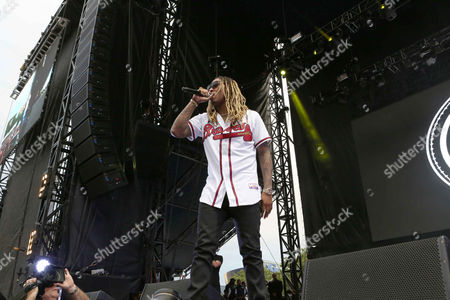 Nayvadius Cash as Future performs during the Outkast #ATLast celebration at Centennial Olympic Park, in Atlanta