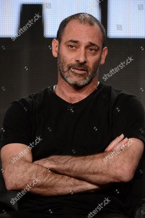 "Cast member Ashraf Barhom participates in the ""Tyrant"" panel at the FX Winter TCA Press Tour, on at the Langham Huntington, in Pasadena, Calif"