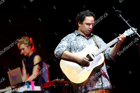 Nora Kirkpatrick and Nico Aglietti of Edward Sharpe & The Magnetic Zeros performs on day 1 of the Gentlemen of the Road stop at Francis Field on in St. Augustine FL