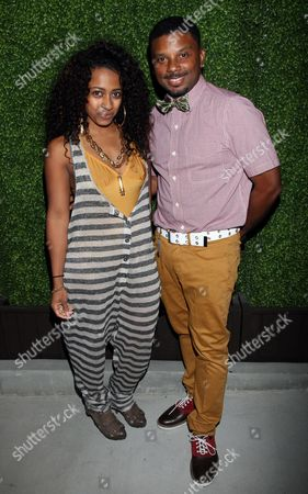 Recorning artist Shanell Woodgett and actor Carl Payne attend Girlfriend Confidential LA Premiere Episode Party at Xen Lounge, in Studio City, California