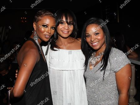 L-R) Eva Marcille, Beth Payne and Mechelle Epps attend Girlfriend Confidential LA Premiere Episode Party at Xen Lounge, in Studio City, California