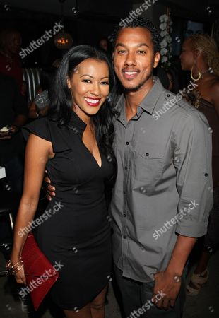 Denyce Lawton and Wesley Jonathan attend Girlfriend Confidential LA Premiere Episode Party at Xen Lounge, in Studio City, California