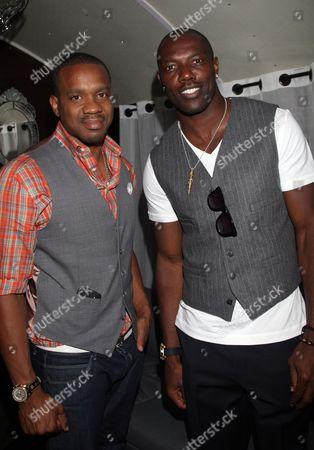 Duane Martin and Terrell Owens attend Girlfriend Confidential LA Premiere Episode Party at Xen Lounge, in Studio City, California