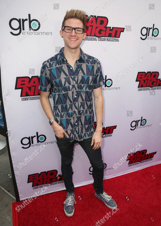 """Ricky Dillon attends GRB Entertainment's """"Bad Night"""" premiere, in Los Angeles"""