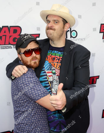 """Gareth Reynolds, left, and Eric Edelstein attend GRB Entertainment's """"Bad Night"""" premiere, in Los Angeles"""