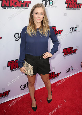 """Julianna Guill attends GRB Entertainment's """"Bad Night"""" premiere, in Los Angeles"""
