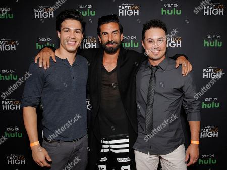 Ray Diaz, Robert Paul Taylor and Co-Executive Producer Troy Combs attend Hulu's East Lost High Season 2 Premiere at Landmark Theater on Wednesday July, 9 2014, in Los Angeles