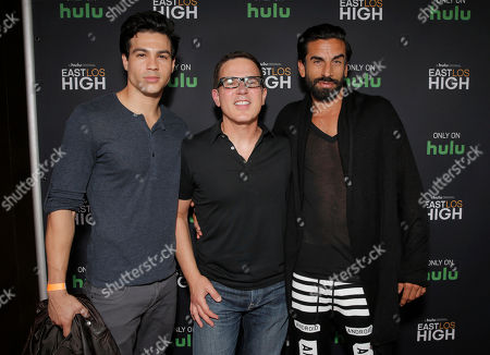 Ray Diaz, Co-Creator/Director Carlos Portugal and Robert Paul Taylor attend Hulu's East Lost High Season 2 Premiere at Landmark Theater on Wednesday July, 9 2014, in Los Angeles