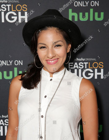 Tracy Perez attends Hulu's East Lost High Season 2 Premiere at Landmark Theater on Wednesday July, 9 2014, in Los Angeles