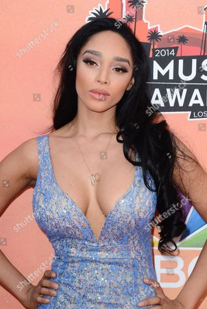 Darnaa arrives at the iHeartRadio Music Awards at the Shrine Auditorium, in Los Angeles