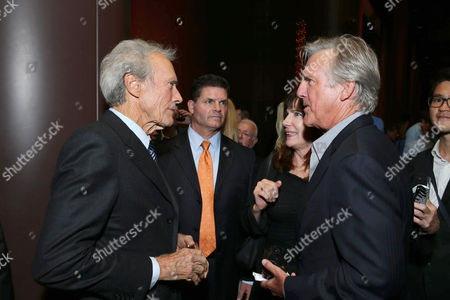 """Exclusive - Director/Producer Clint Eastwood and Jamey Sheridan seen at the Los Angeles Industry Screening of Warner Bros. Pictures and Village Roadshow Pictures """"Sully"""" at The DGA Theater, in Los Angeles"""