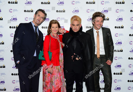 Rupert Everett, Stephanie Beacham, Prince Haji 'Abdul 'Azim of Brunei and Tyler James attend the JLS Foundation OJAM in aid of Cancer Research UK at Battersea Evolution in London on June 6th, 2013