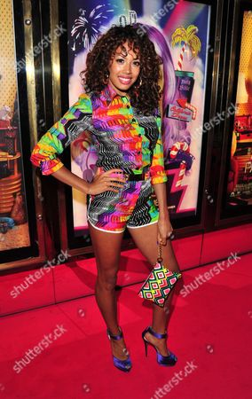 Jade Ewan poses at the Katy Perry - Part Of Me European Premiere, at Empire Leicester Square, on in London