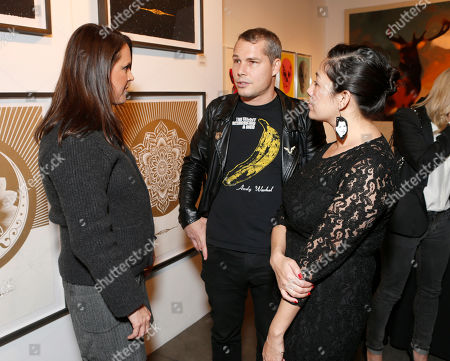 The Art of Elysium Founder Jennifer Howell, Shepard Fairey and Amanda Fairey attend the LA Art Show hosted by Ali Larter and Hayes MacArthur Benefiting the Art of Elysium at the LA Convention Center, in Los Angeles