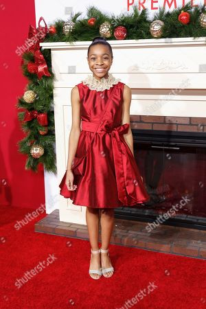 """Nadej Bailey arrives at the LA Premiere of """"Almost Christmas"""" at the Regency Village Theatre, in Los Angeles"""