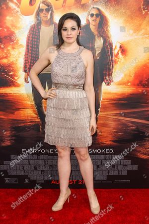 """Shelley Regner attends the Los Angeles premiere of """"American Ultra"""" at the Ace Hotel on"""