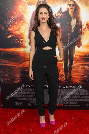 """Courtney James Clark attends the Los Angeles premiere of """"American Ultra"""" at the Ace Hotel on"""
