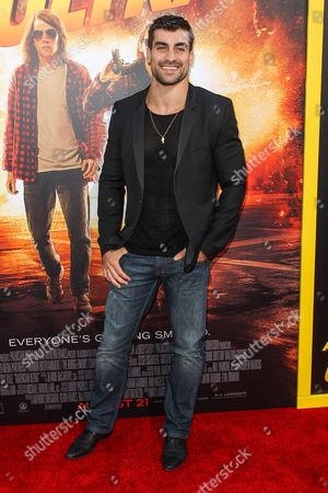 """Thomas Canestraro attends the Los Angeles premiere of """"American Ultra"""" at the Ace Hotel on"""