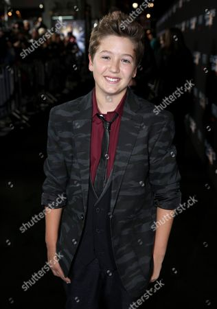 """Garrett Ryan arrives at the Los Angeles premiere of """"Ender's Game"""" at TCL Chinese Theatre on"""