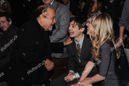 """From left, Danny Devito, Simon Rich, and Kathleen Hale attend the After Party for the LA Premiere Of """"It's Always Sunny In Philadelphia"""" And """"Man Seeking Woman, in Los Angeles"""