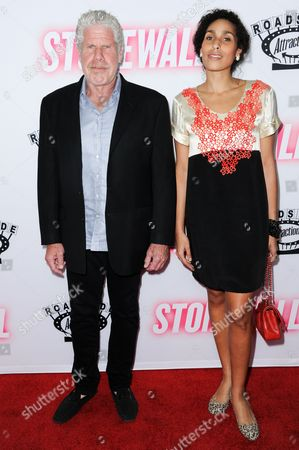"Stock Photo of Actor Ron Perlman and daughter Blake Perlman arrive at the LA premiere of ""Stonewall"", at the Pacific Design Center in West Hollywood, Calif"