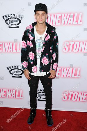 """Cody Saintgnue arrives at the LA premiere of """"Stonewall"""", at the Pacific Design Center in West Hollywood, Calif"""