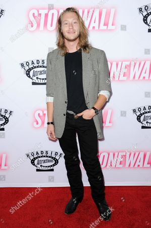 """Ben Sullivan arrives at the LA premiere of """"Stonewall"""", at the Pacific Design Center in West Hollywood, Calif"""