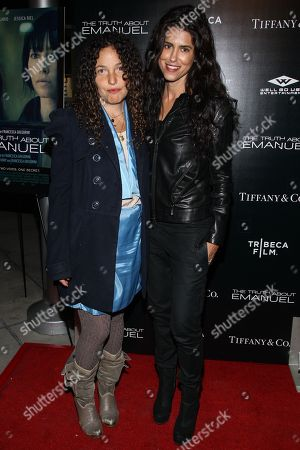 "Producer Tatiana von Furstenberg (L) and director Francesca Gregorini arrivesat the Los Angeles premiere of ""The Truth About Emanuel"" at ArcLight Hollywood on"