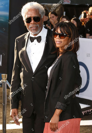 """Morgan Freeman and daughter Morgana Freeman arrive at the LA premiere of """"Oblivion"""" at the TCL Chinese Theater on in Los Angeles"""
