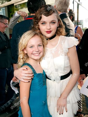 """Kyla Deaver, left, and Joey King arrive at the LA premiere of """"The Conjuring"""" at the Cinerama Dome, in Los Angeles"""