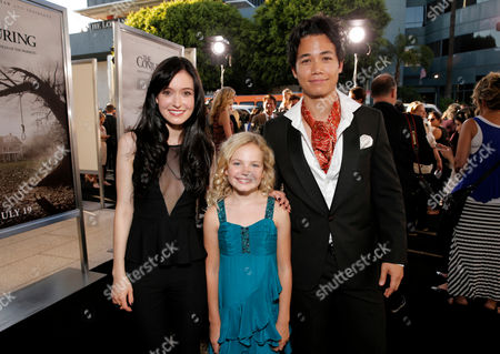 """From left, Hayley McFarland, Kyla Deaver and Shannon Kook arrive at the LA premiere of """"The Conjuring"""" at the Cinerama Dome, in Los Angeles"""