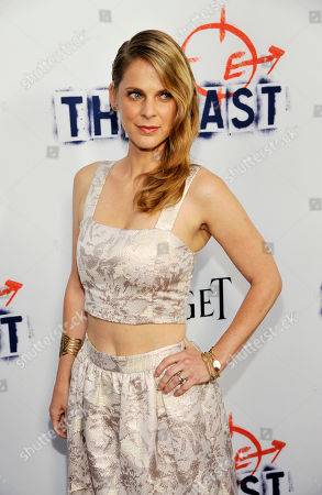 "Hillary Baack, a cast member in ""The East,"" poses at the Los Angeles premiere of the film at the ArcLight Hollywood on in Los Angeles"