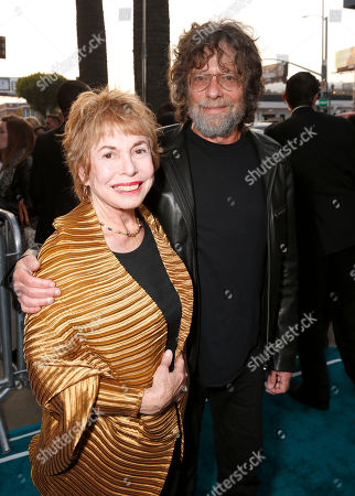 """Producers Paula Mae Schwartz and Steve Schwartz arrive at the LA premiere of """"The Host"""" at the ArcLight Hollywood on in Los Angeles"""