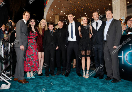 """Open Road Film's Jason Cassidy, Stephenie Meyer, Saoirse Ronan, Chandler Canterbury, Andrew Niccol, Max Irons, Diane Kruger, Jake Abel and Open Road Films' Tom Ortenberg arrive at the LA premiere of """"The Host"""" at the ArcLight Hollywood on in Los Angeles"""