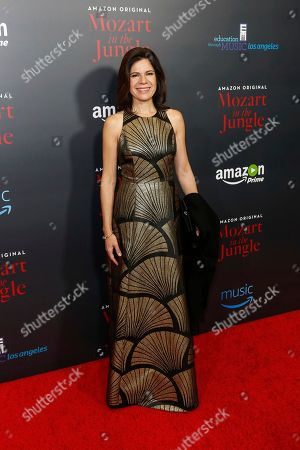 "Soprano Ana Maria Martinez arrives at the LA Special Screening of ""Mozart in the Jungle"" at The Grove, in Los Angeles"