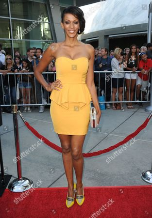 "Judith Shekoni arrives at a special screening for ""I Give It A Year"" at the ArcLight Hollywood on in Los Angeles"