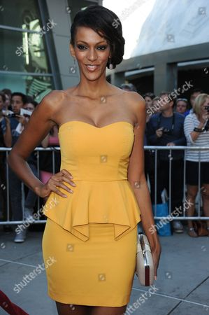 """Judith Shekoni arrives at a special screening for """"I Give It A Year"""" at the ArcLight Hollywood on in Los Angeles"""